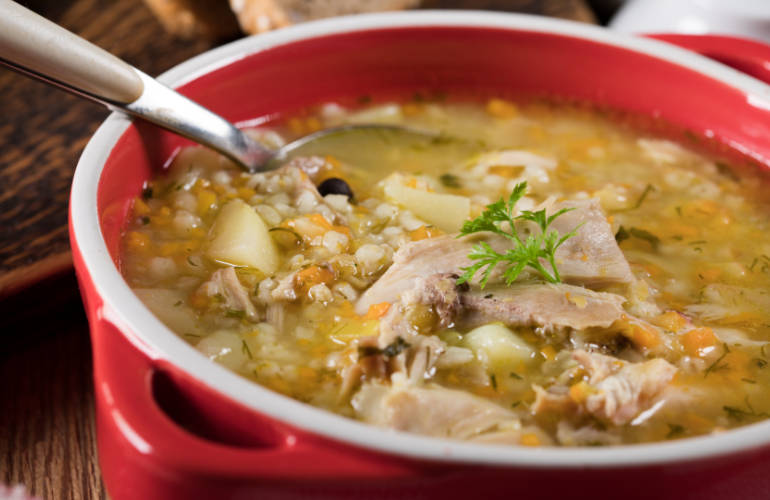 Polish barley soup